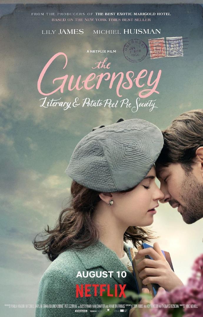 根西岛文学与土豆皮馅饼俱乐部 The Guernsey Literary and Potato Peel Pie Society 【WEBRip720p/1080p内嵌中英字幕】【2018】【剧情/爱情】【英国/美国】