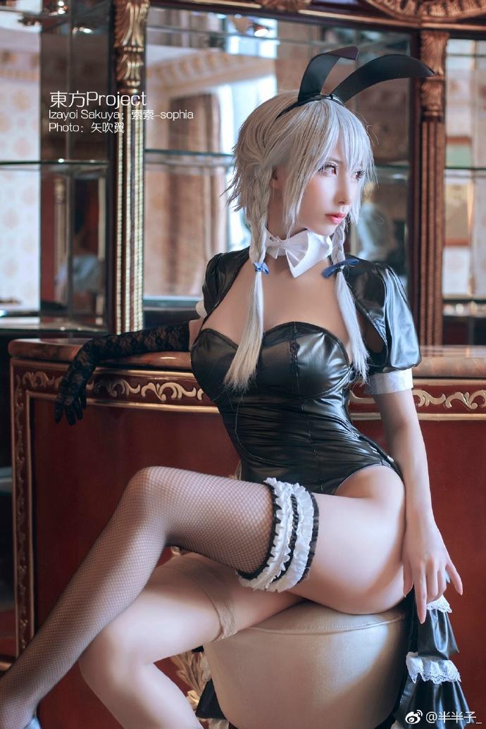 【cos正片】东方project 红美铃 兔女郎 cos欣赏 cn:半半子 cosplay-第4张