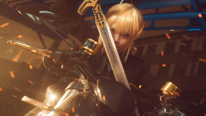 【COS正片】Fate/Zero saber黑西装cos欣赏 cn:寒殇 Cosplay-第9张
