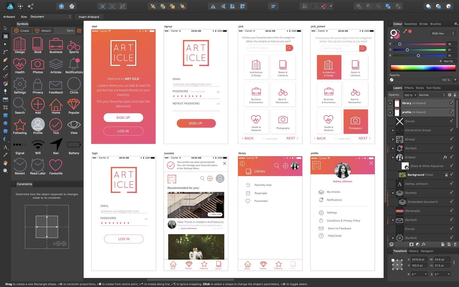 Affinity Designer 1.8.4 迅捷、流畅、精确的矢量图形设计工具-马克喵