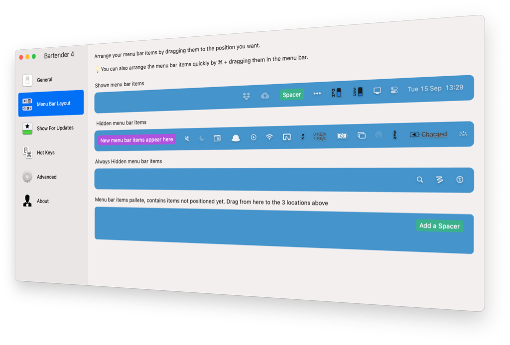 Bartender 4.0.10 Beta 破解版 一款实用的菜单栏管理工具-马克喵
