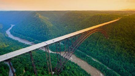 新河峡国家公园中的新河峡大桥