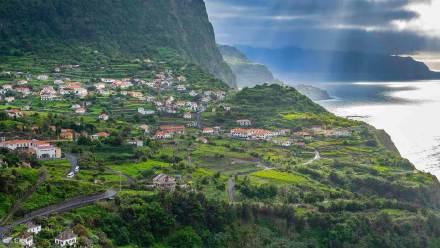 马德拉岛的北海岸