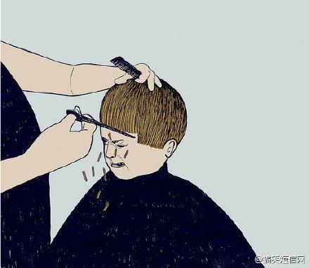 """发现每个理发师都听不懂""""稍微修一下,不要太短""""。。"""