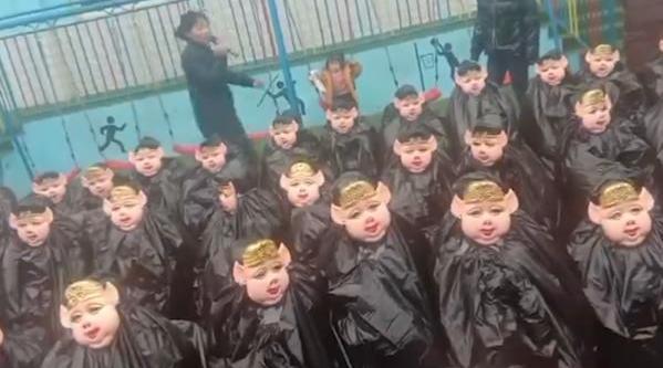 幼儿园孩子扮猪八戒让父母认:拉近亲子关系
