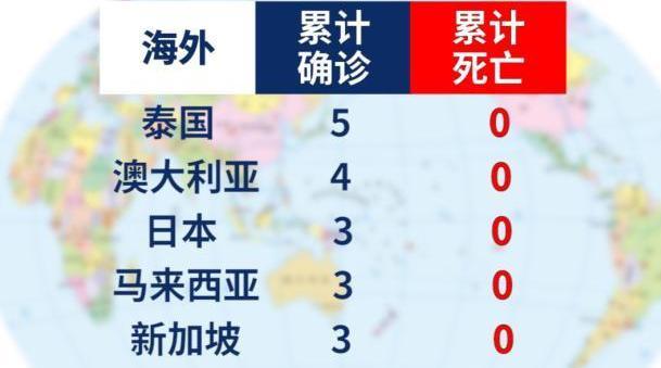 海外10国新型冠状病毒肺炎确诊28例