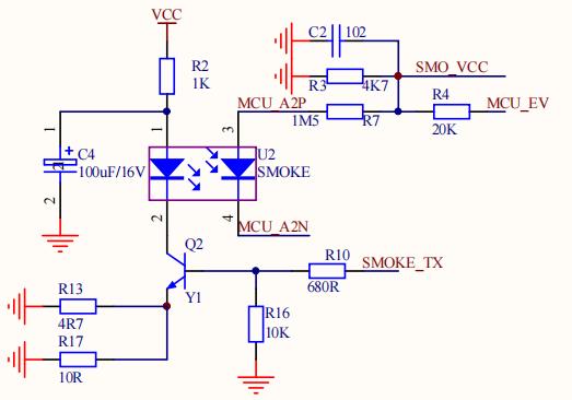 NB-Iot烟感03:感烟探测器原理图设计