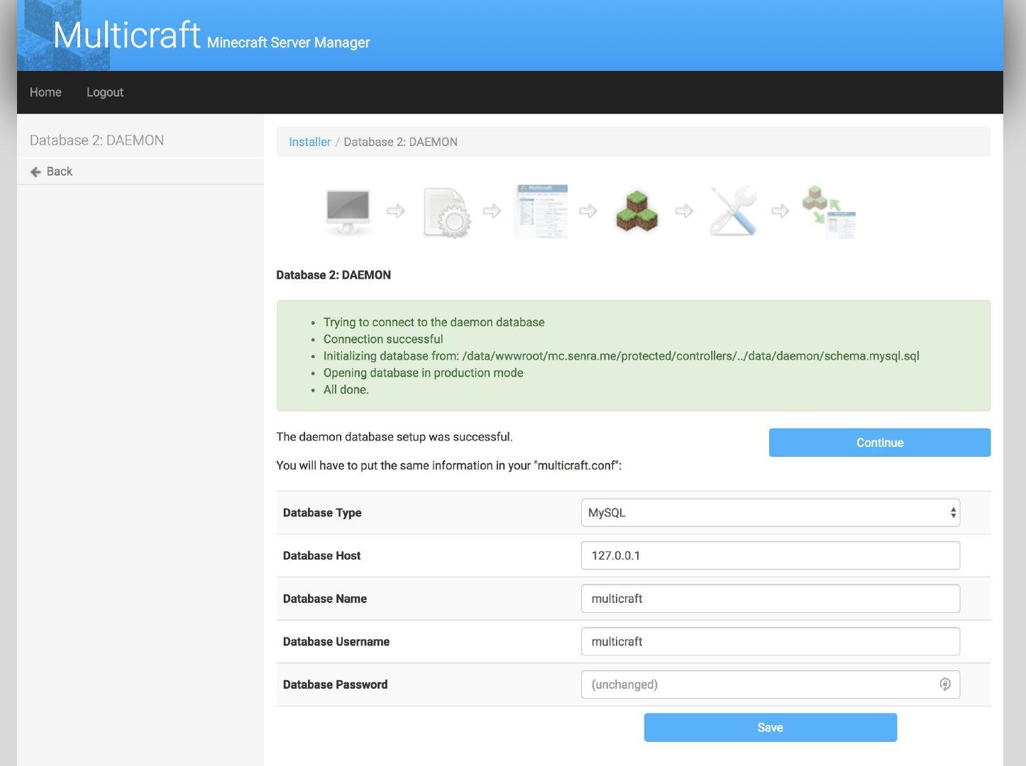 使用MultiCraft面板搭建MineCraft服务器