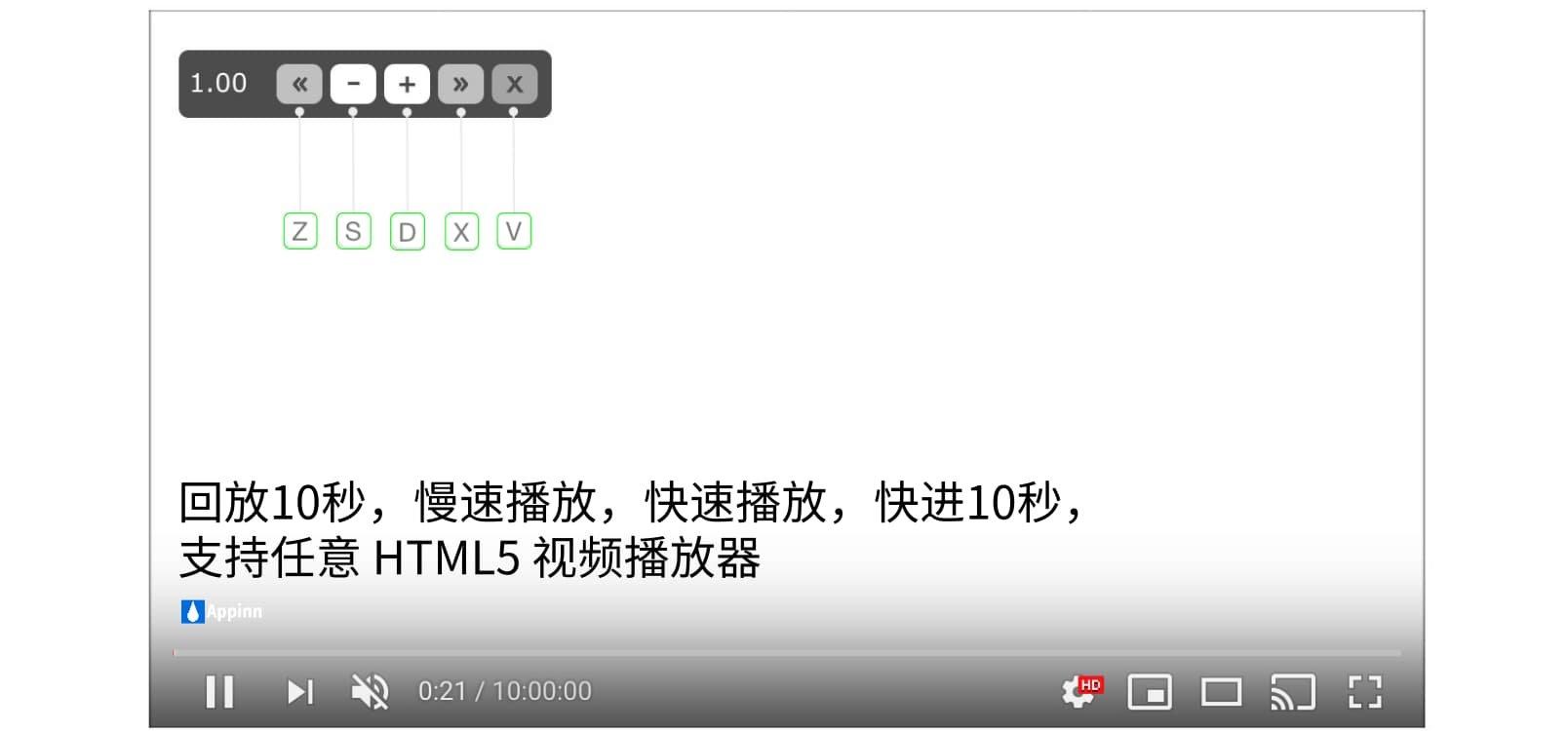 [Chrome/Firefox插件] 为网页视频添加倍速、快进、回放功能