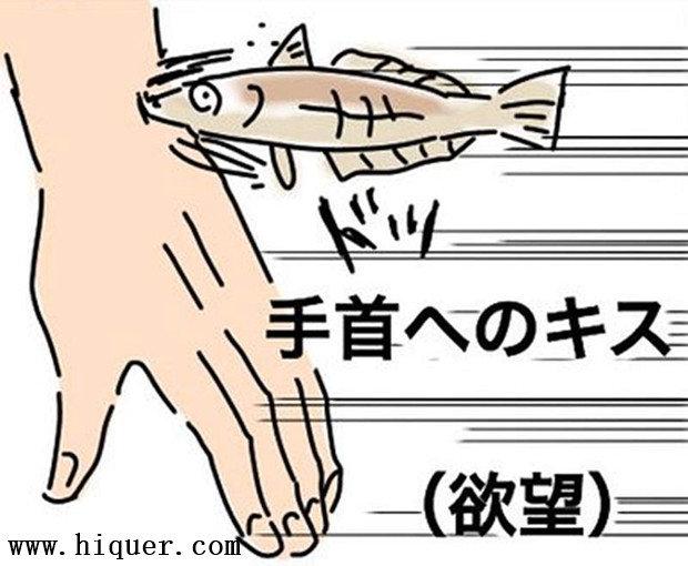 科普百科《亲吻身体部位代表的意义》,细节太难记就画条鱼让你一看就懂! 涨姿势 第8张