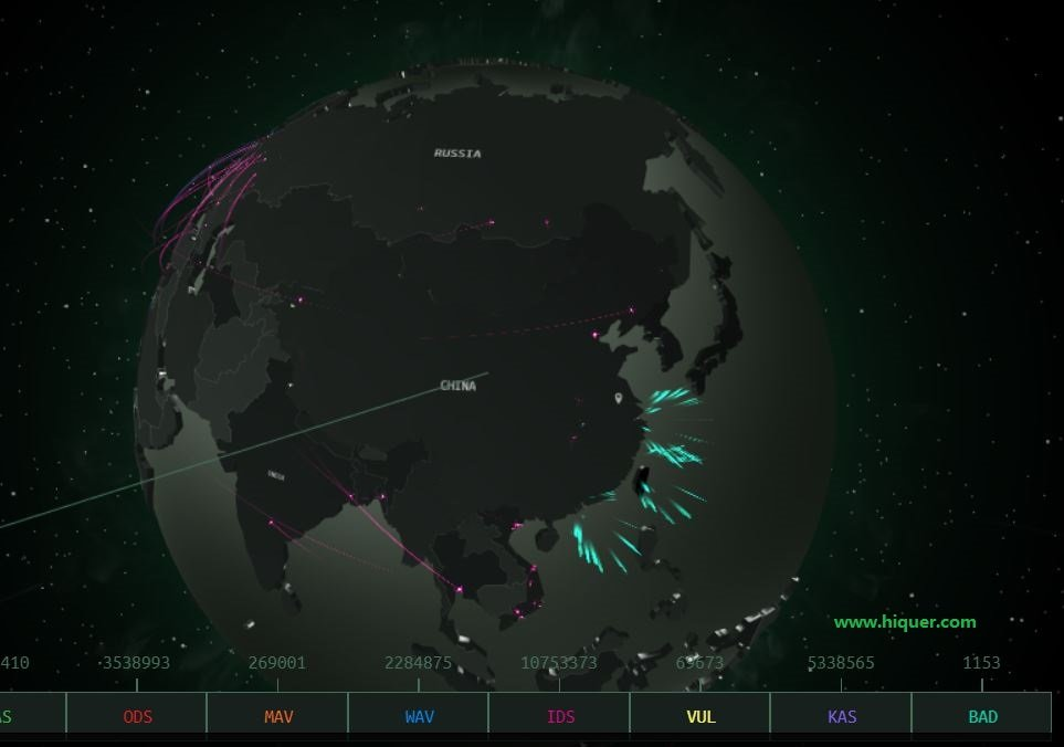 酷炫推荐全球黑客攻击总览,来自卡巴斯基实验室! 老司机 第1张