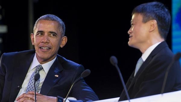 """马云""""私聊""""奥巴马 全程保密有何玄机?的照片"""