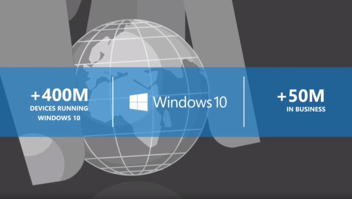 微软:超过5000万台商务电脑已经运行Windows 10的照片