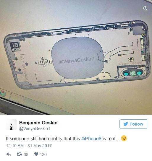 最新谍照显示iPhone 8或将引入无线充电功能的照片 - 2