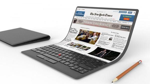 联想展示个人电脑概念:屏幕可折叠 内置ThinkPad小红点的照片 - 1