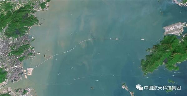 太空看港珠澳大桥:从无到有的震撼的照片 - 7