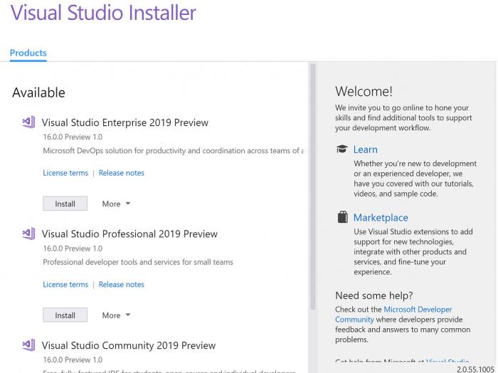 微软 Visual Studio 2019 Preview 现已可下载的照片 - 2