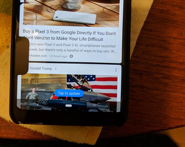 谷歌Pixel 3 XL出现双刘海BUG:用户哭笑不得的照片 - 3