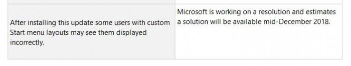 微软承认KB4467682导致自定义开始菜单布局显示不正常的照片 - 2
