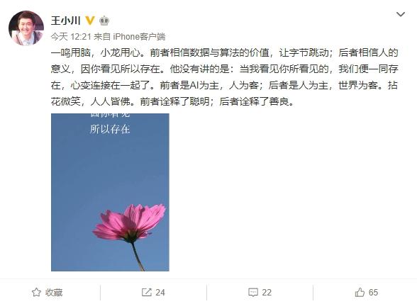 王小川 评 张小龙 张一鸣:一个善良 一个聪明的照片 - 2