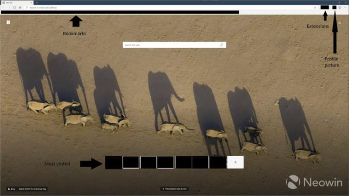基于Chromium的新版Edge截图曝光:扩展更丰富的照片 - 1