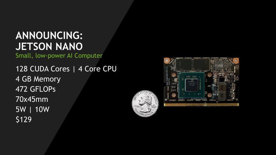 英伟达发布嵌入式电脑Jetson Nano:功耗仅5W的照片 - 1