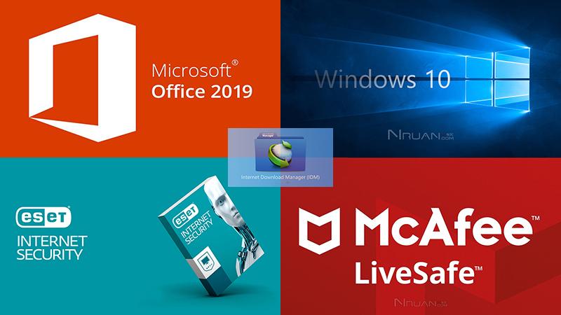 Windows 10 / Office 2019 / IDM / ESET / 迈克菲 / 正版精品的照片 - 1