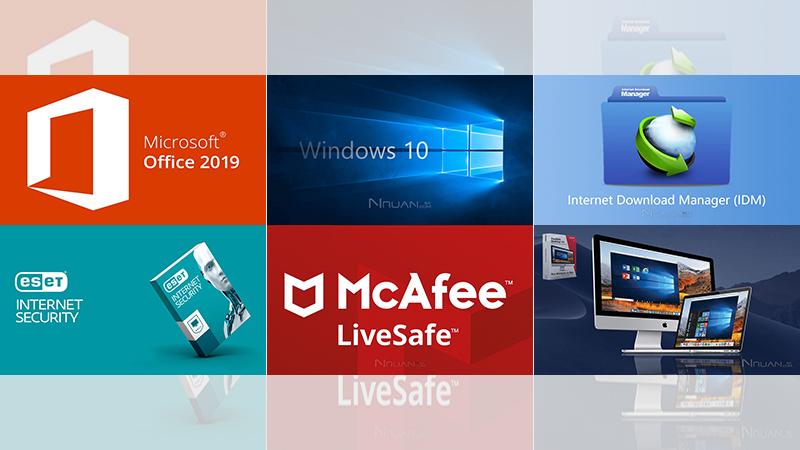 Windows 10   Office 2019   IDM   ESET   迈克菲   苹果虚拟机   正版精品的照片 - 1