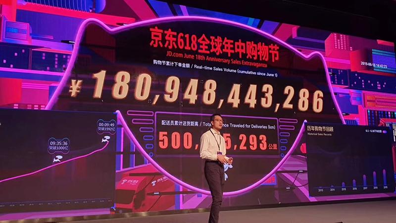 京东618成绩:17天半累计下单金额超1795亿元