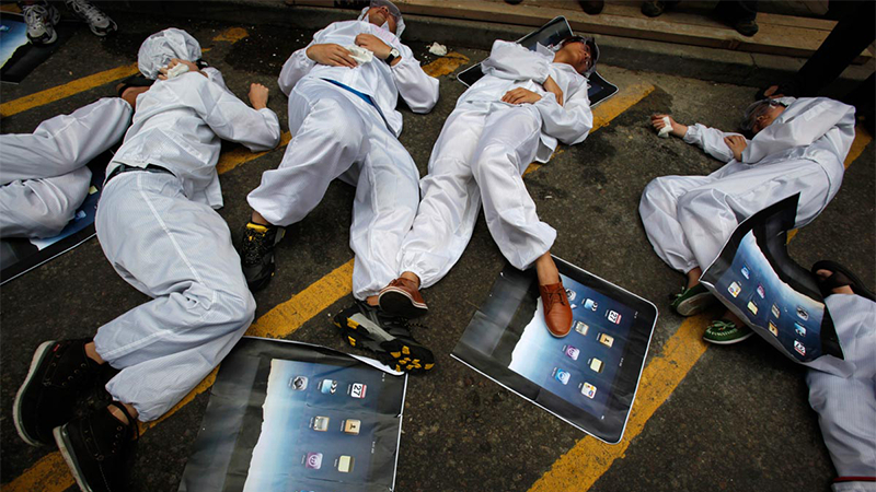 苹果承认违反中国劳动法:临时工占50% 远高于法规10%的照片 - 1