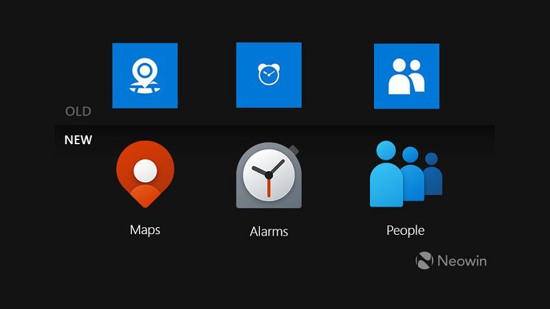 迎接Win10X:微软为地图闹钟和人脉应用带来新图标的照片 - 1