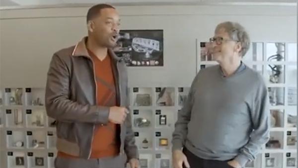 威尔·史密斯拜访比尔·盖茨:你的办公室太棒了