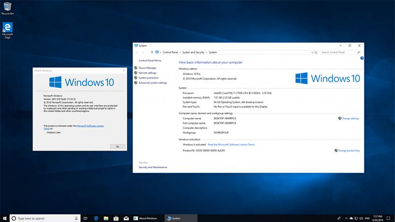微软宣布Win10 April 2018 Update (1803)已结束支持