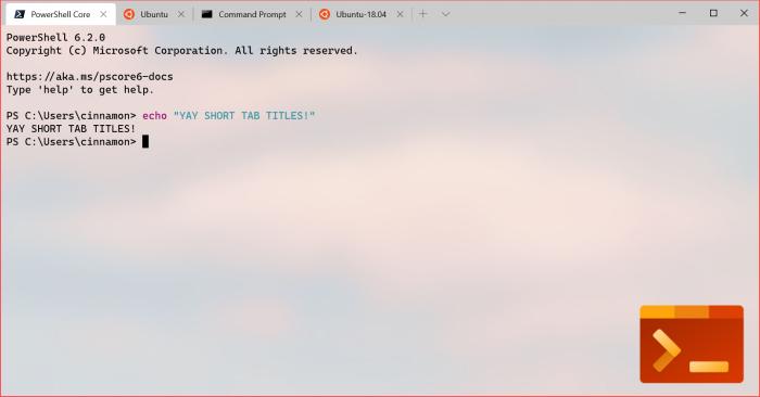 Windows Terminal v0.7发布:支持分屏 重排选项卡 改进UI的照片 - 4