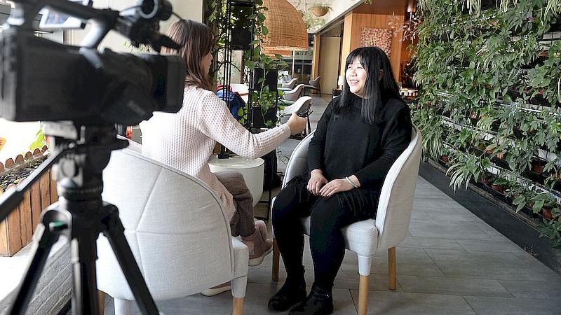 乔碧萝首次露脸采访:现在胖了