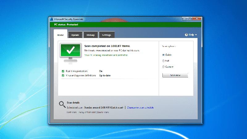 Win7免费杀毒软件Security Essentials将于下月终止支持
