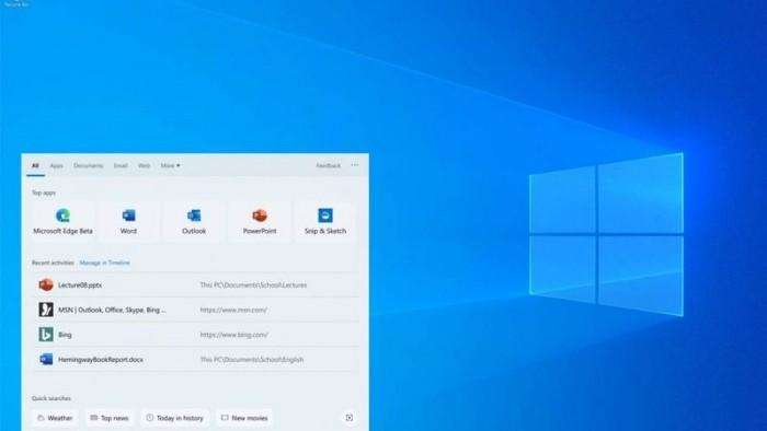 微软在Windows Search中整合了Bing浏览器的照片 - 1
