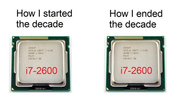 来自玩家的自嘲:十年前的酷睿i7-2600K还能再战
