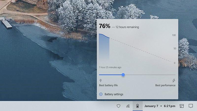 受Android启发 用户重新设计Win10电池弹出式界面的照片