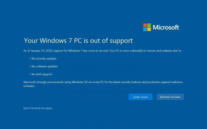 有观点认为Win7的终结也标志着PC时代的终结的照片