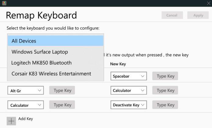 Win10将迎来基于PowerToys系统工具的键盘管理器的照片 - 3