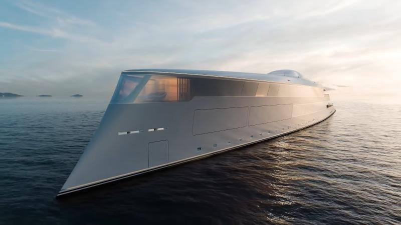 豪掷35亿!盖茨购入世界第一架氢动力超级游艇的照片