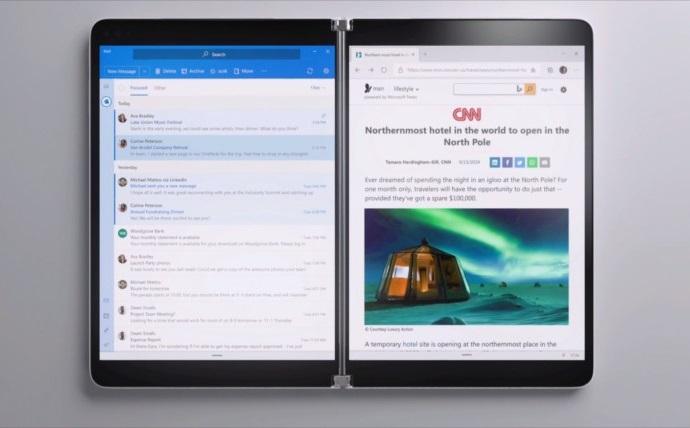 一起来了解为双屏设备而生的Win10X系统的照片 - 1