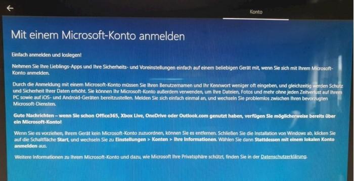 Win10开始隐藏本地帐号设置 强推微软账户的照片 - 2