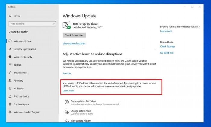 微软再次变脸用更温和的提醒推荐Win10用户升级的照片 - 2