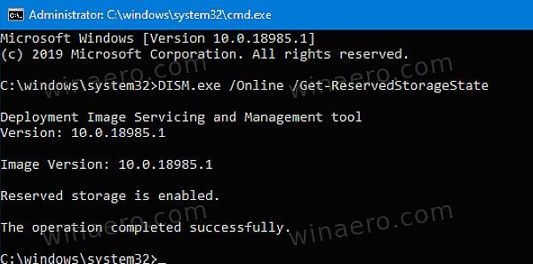"""Win10新增DISM命令行 调整""""保留的存储""""选项的照片 - 3"""