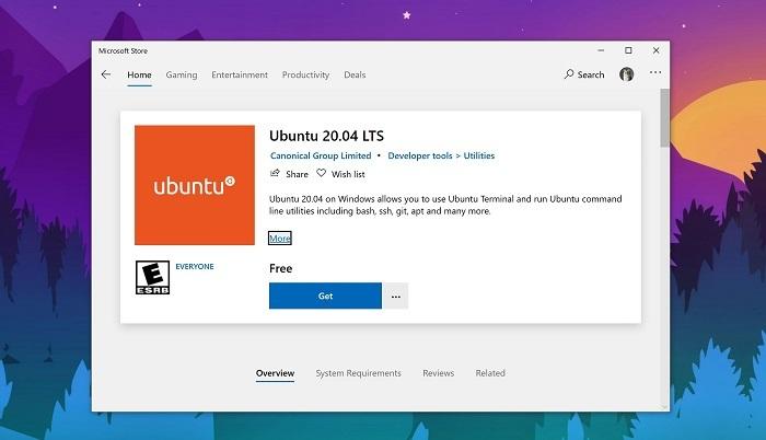 Ubuntu 20.04 LTS已可通过Win10应用商店获取