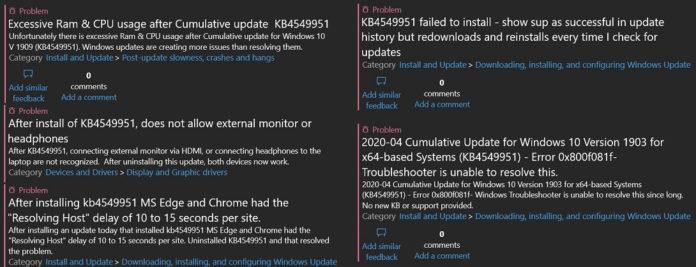 微软正研究Win10 KB4549951更新带来的问题的照片 - 2
