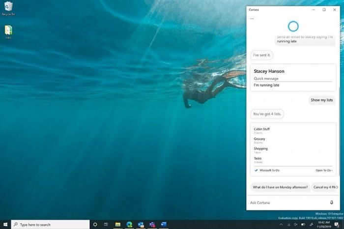 向生产力转移 Win10中Cortana迎来全新改变的照片 - 2