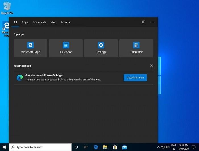 Win10搜索开始出现广告 推销新款Edge浏览器的照片 - 2